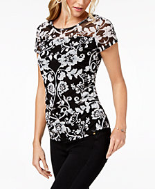 I.N.C. Ruched Illusion Top, Created for Macy's