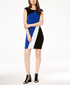 I.N.C. Colorblocked Knit Dress, Created for Macy's