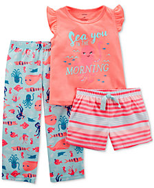 Carter's 3-Pc. Sea You In The Morning Pajama Set, Little Girls & Big Girls
