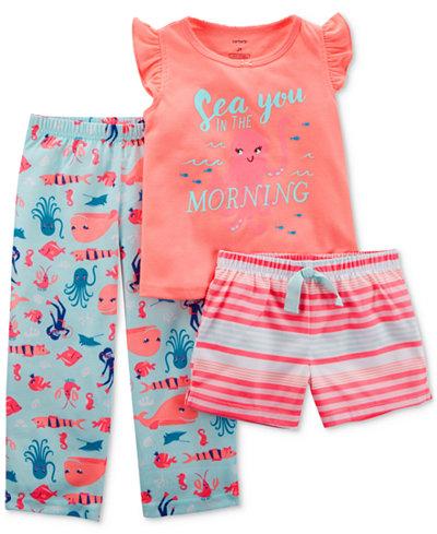 Carter's 3-Pc. Sea You In The Morning Pajama Set, Toddler Girls