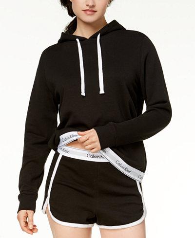 Calvin Klein Cotton Logo-Hem Hoodie QS6138