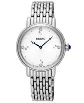 Seiko Women s Crystal Stainless Steel Bracelet Watch 29.4mm 086d495d02