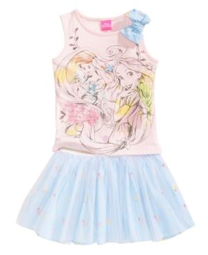Disney 2Pc Princesses Tank Top  Scooter Skirt Set Toddler Girls