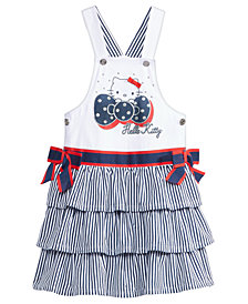 Hello Kitty Graphic-Print Skirtall, Little Girls