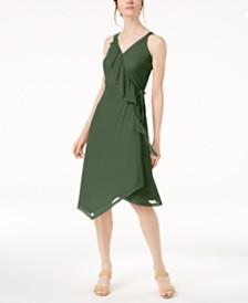 Love Scarlett Petite Ruffled Wrap Dress, Created for Macy's