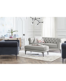 CLOSEOUT! Remina Leather and Fabric Sofa Collection