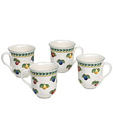 Villeroy & Boch French Garden 4-Pc. Mug Set, Created for Macy's