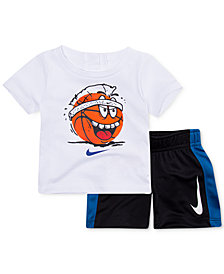Nike 2-Pc. Ball-Print T-Shirt & Shorts Set, Baby Boys