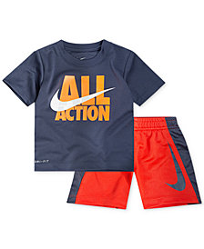 Nike 2-Pc. Action-Print T-Shirt & Shorts Set, Baby Boys