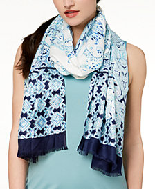 I.N.C. Swimming Tiles Wrap & Scarf in One, Created for Macy's