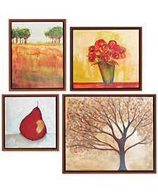 Madison Park Autumn Orchard Gallery 4-Pc. Framed Canvas Print Set