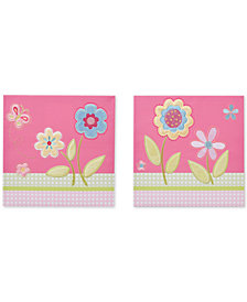 Mi Zone Kids Spring Bloom Embroidered Canvas 2-pc. Set
