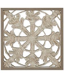 "Harbor House Lattice Mirror 26"" x 26"" Rice Paper Framed Wall Art"