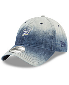 New Era Milwaukee Brewers Denim Wash Out 9TWENTY Cap