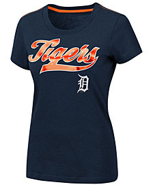 G-III Sports Women's Detroit Tigers Script Foil T-Shirt