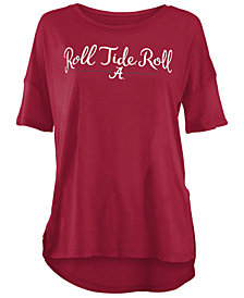 Royce Apparel Inc Women's Alabama Crimson Tide Hip Script Modal Crew T-Shirt