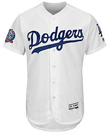 Majestic Men's Los Angeles Dodgers Flexbase 60th Anniversary Patch Jersey