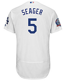 Majestic Men's Corey Seager Los Angeles Dodgers Flexbase 60th Anniversary Patch Jersey