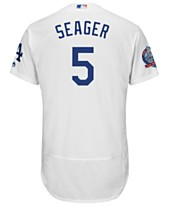 47759b1ec49 Majestic Men s Corey Seager Los Angeles Dodgers Flexbase 60th Anniversary  Patch Jersey