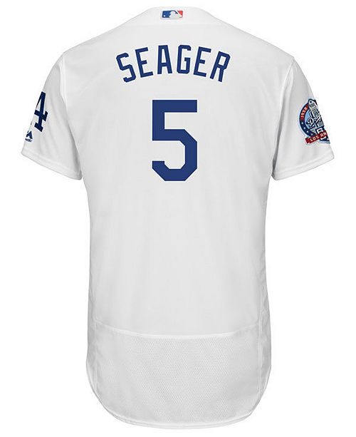 ... Majestic Men s Corey Seager Los Angeles Dodgers Flexbase 60th  Anniversary Patch Jersey ... 1281a5ee963