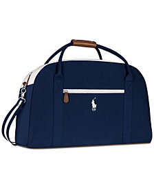 Receive a Complimentary Duffel Bag with any large spray purchase from the Ralph Lauren Polo Blue fragrance collection