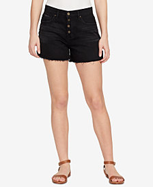 WILLIAM RAST High Rise Button-Up Denim Shorts