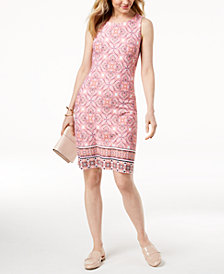 Charter Club Petite Printed Dress, Created for Macy's