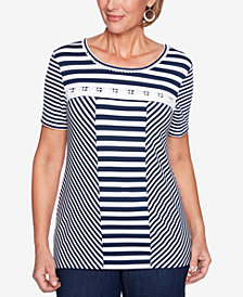 Alfred Dunner America's Cup Striped Top