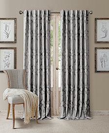 "Elrene Darla 52"" x 108"" Ironwork Blackout Rod Pocket/Back-Tab Curtain Panel"