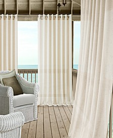 Carmen Sheer Extra-Wide Indoor/Outdoor Grommet Curtain Panels with Tiebacks