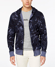 Michael Kors Men's Tropical-Print Fleece Hoodie