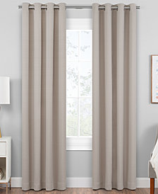 "Hudson Hill Raw Faux-Silk 50"" x 63"" Grommet Window Panel"