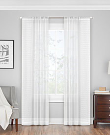"Hudson Hill Ripples 50"" x 95"" Embroidered Sheer Rod Pocket Window Panel"