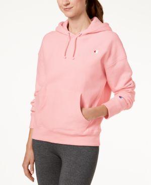 Reverse-Weave Fleece Hoodie in Pink Candy
