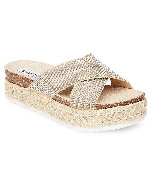 ef696faf7ae3 Steve Madden Women s Arran Flatform Sandals   Reviews - Sandals ...