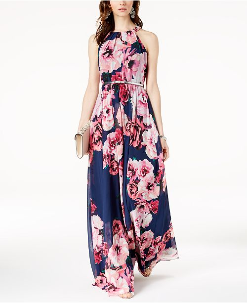 46fb22ae5d5 ... INC International Concepts I.N.C. Petite Belted Floral-Print Maxi Dress