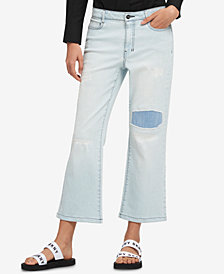 DKNY Patched Kick-Flare Jeans