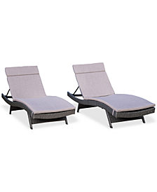 San Pedro Outdoor Chaise Lounge (Set Of 2), Quick Ship