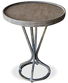 Helman Round End Table, Quick Ship