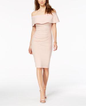 Xscape Off-The-Shoulder Sheath Dress 5764651