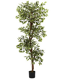 Nearly Natural 6' Variegated Ficus Tree