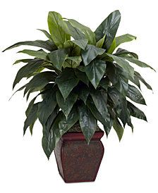 Nearly Natural Cordyline Plant with Decorative Vase