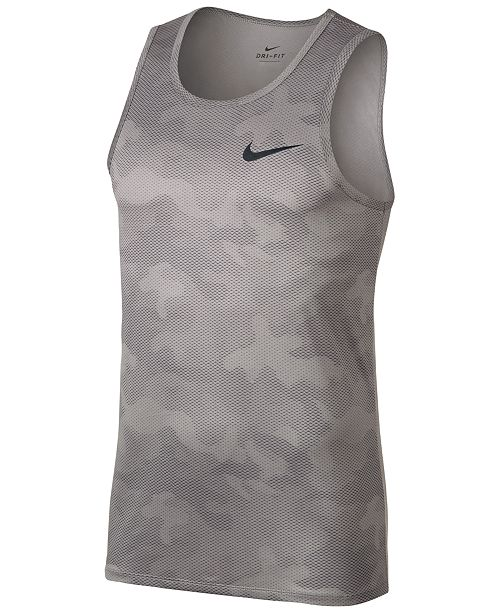 af5a8137 Nike Men's Dry Legend Printed Training Tank Top & Reviews - T-Shirts ...