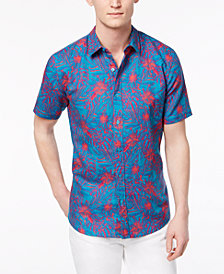 GUESS Men's Walker Tropical Shirt