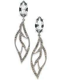 Danori Silver-Tone Marquise Crystal Drop Earrings, Created for Macy's