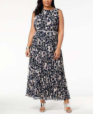 Jessica Howard Plus Size Pleated Maxi Dress Dresses Women Macy S