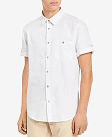 Calvin Klein Jeans Men's Herringbone Utility Shirt