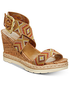 White Mountain Pearl Platform Espadrille Wedge Sandals