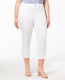 Style & Co Plus Size Seamed Straight Capri Jeans, Created for Macy's