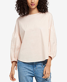 DKNY Balloon Tie-Sleeve Top, Created for Macy's